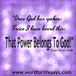 "Words To Live By – ""God Has the Power to Handle It!"""