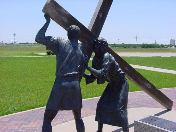 Simon of Cyrene the black hands that helped carry the cross (PHOTO BY PASTOR DAVIS)